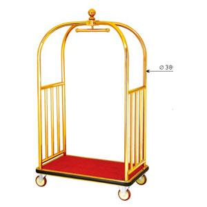 Xe đẩy hành lý nhà khách bằng inox mạ vàng cao cấp D11-A