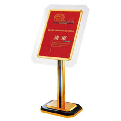 Bảng menu khách sạn bằng meka
