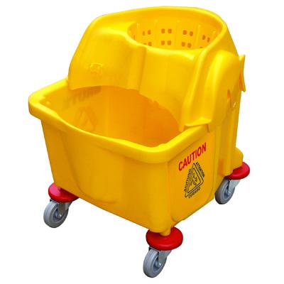 Xe lau nhà màu vàng
