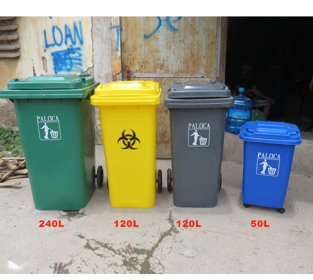 Thùng rác công nghiệp 120l 240l bình dương, hcm, hà nội