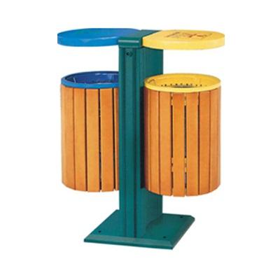 Thùng rác 2 ngăn bằng gỗ
