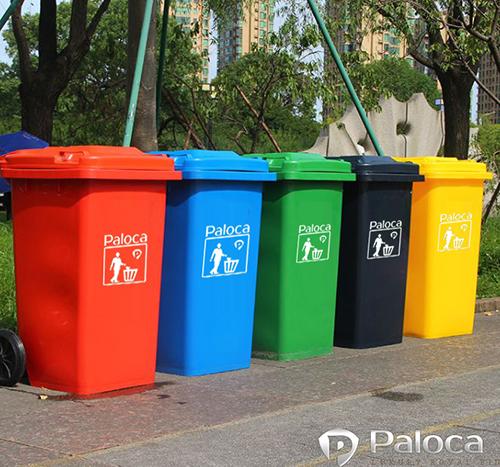 Thùng rác nhựa 240l chất liệu dày dặn,màu sắc đa dạng