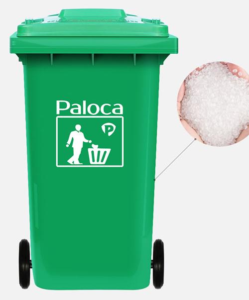 Hình ảnh thực tế thùng rác nhựa công nghiệp 120l