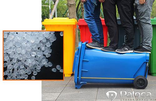 Thùng rác nhựa composite 240l có khả năng chịu được va đập vượt trội