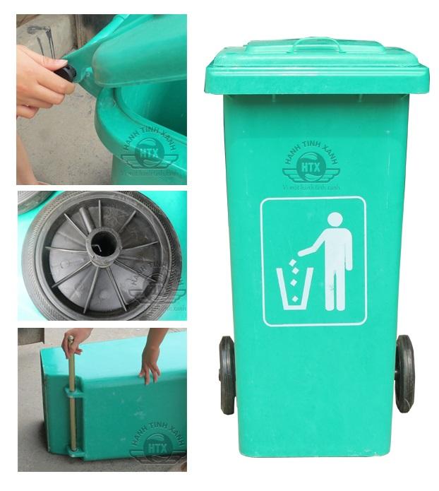 Thùng rác nhựa composite 240l nhập khẩu