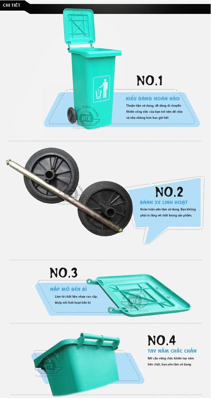 Đặc điểm của Thùng rác nhựa composite