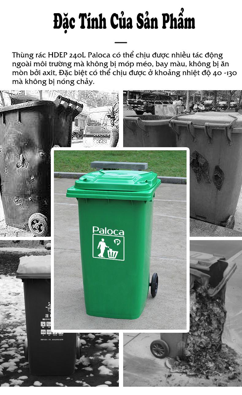 Giá thùng rác nhựa hdpe 240 lít