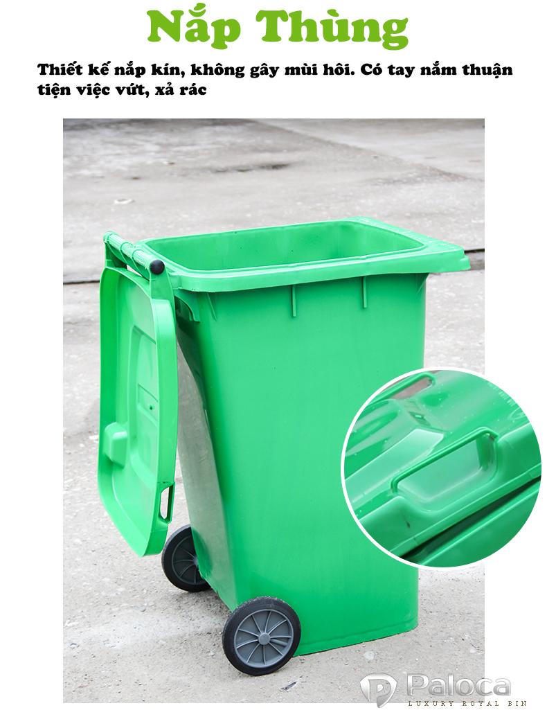 Thùng rác nhựa 240 lít HDPE giá rẻ