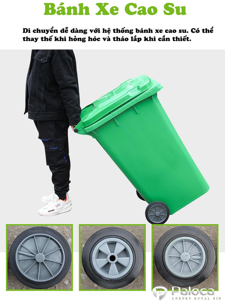 Thùng rác 240 lít HDPE