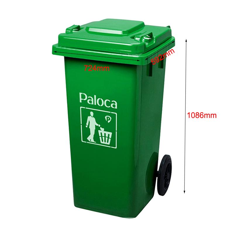 Thùng rác nhựa màu xanh 240 lít