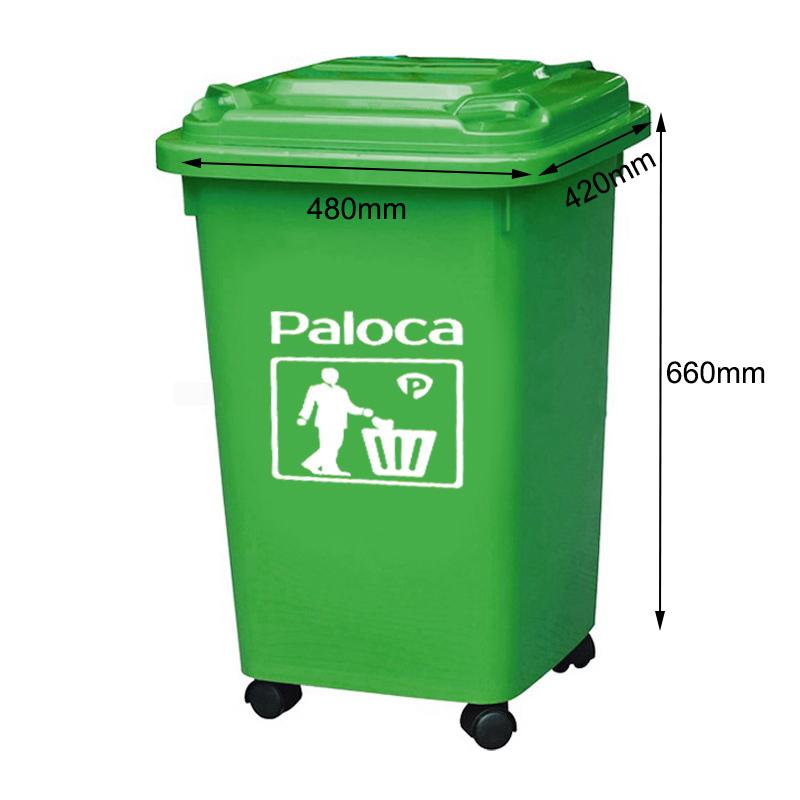 Thùng rác nhựa màu xanh 60 lít