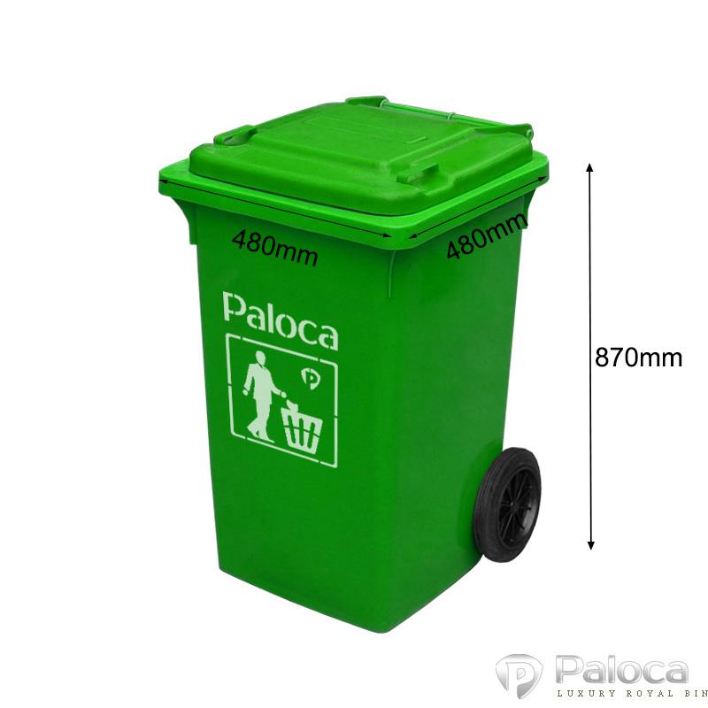 Thùng rác nhựa màu xanh 90 lít