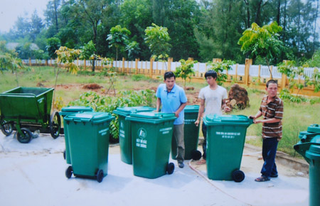 thùng rác nông thôn