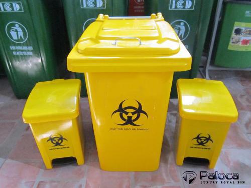 Thùng rác y tế màu vàng
