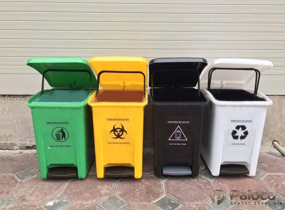 Báo giá các loại thùng rác y tế 20 lít