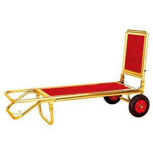 Xe đẩy hành lý inox mạ vàng chính hãng