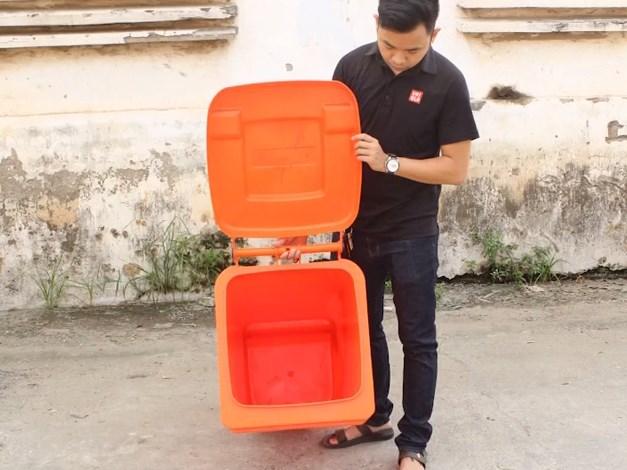 Chi tiết thùng rác nhựa hdpe 120l