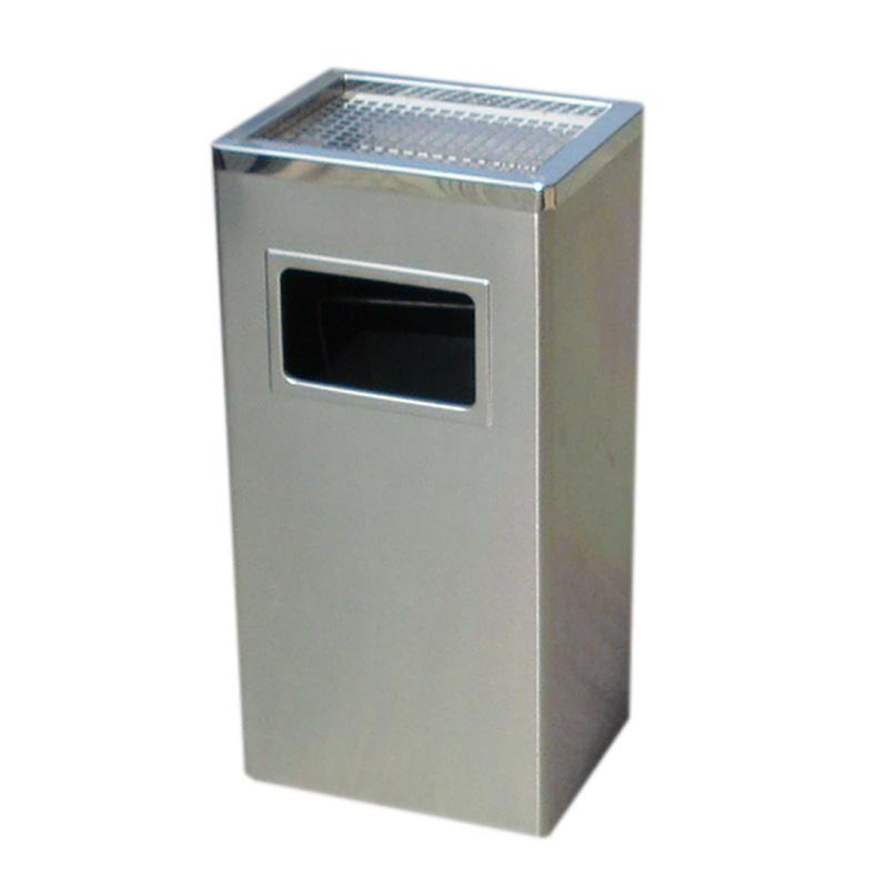 địa chỉ bán thùng rác inox hình chữ nhật màu trắng có gạt tàn giá rẻ nhất, thùng rác inox giá rẻ