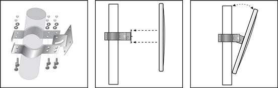 Cách lắp gương cầu lồi vào cột