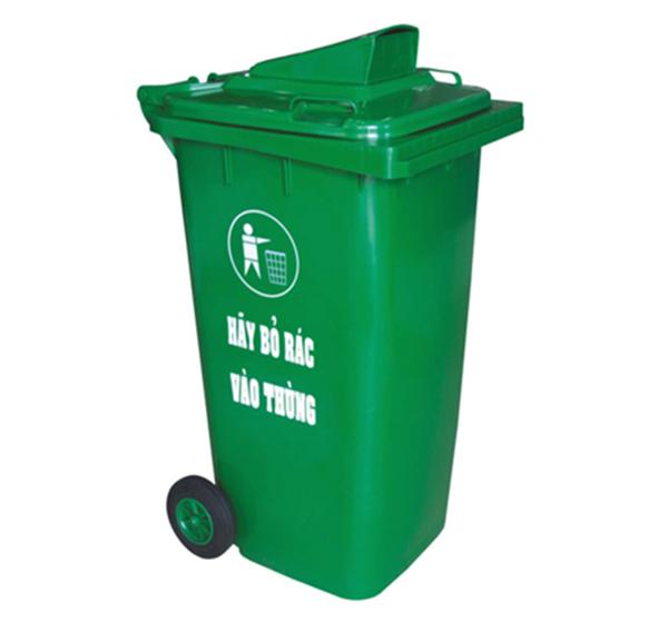 Thùng rác nhựa HDPE 240 Lít có nắp khe bỏ rác