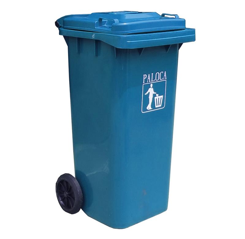 Thùng rác nhựa 240L HDPE màu xanh da trời