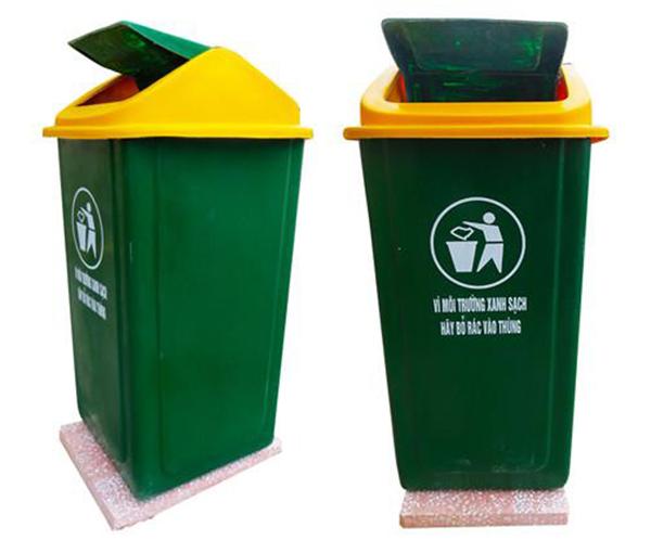 Thùng rác nhựa composite đế đá