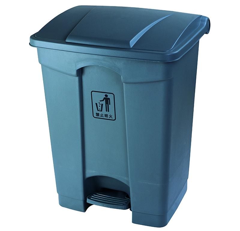 Thùng rác nhựa đạp chân 87L màu ghi