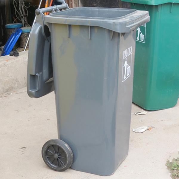 Thùng rác nhựa HDPE 120L có bánh xe