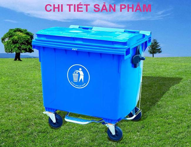 Thùng rác nhựu HDPE 660 lít