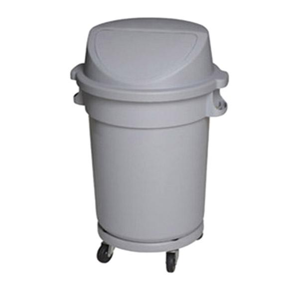 thùng rác nhựa tròn nắp đẩy 120L có bánh xe