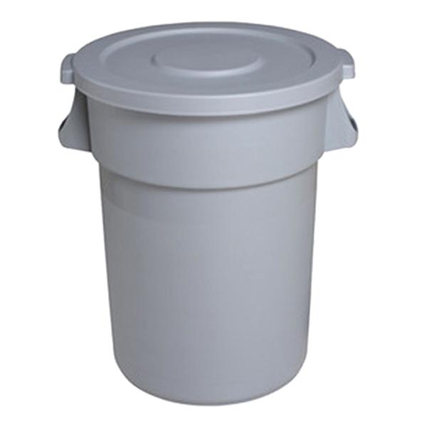 Thùng rác nhựa tròn nắp kín 168L