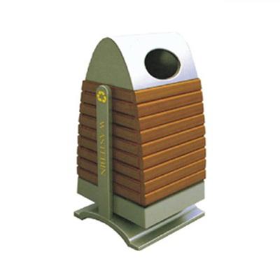 Thùng rác gỗ công nghiệp ngoài trời giá rẻ