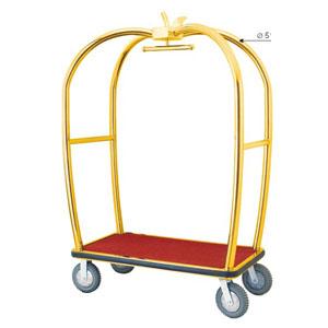 Xe đẩy hành lý khách sạn inox mạ vàng cao cấp D-15