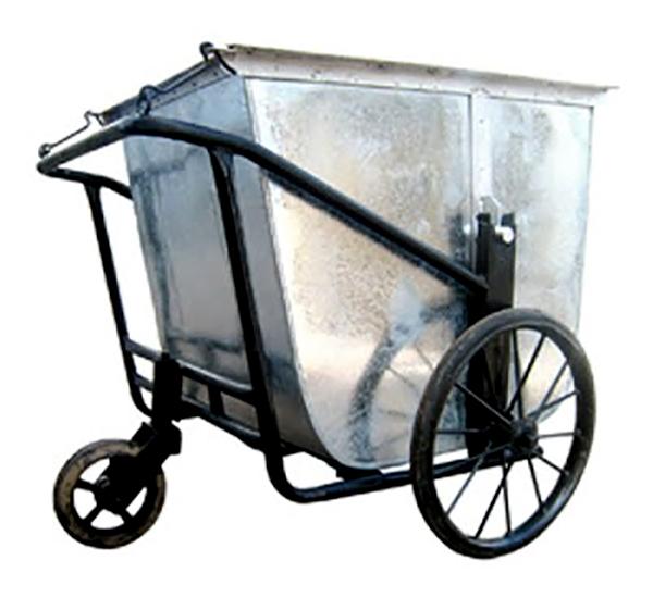 Xe thu gom rác bằng tôn 500L