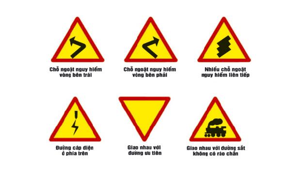Các loại biển báo giao thông hình tam giác