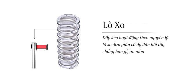 Hộp dây kéo hoạt động theo nguyên tắc lò xo