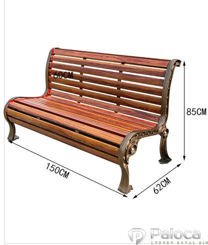 Ghế gỗ công viên đẹp