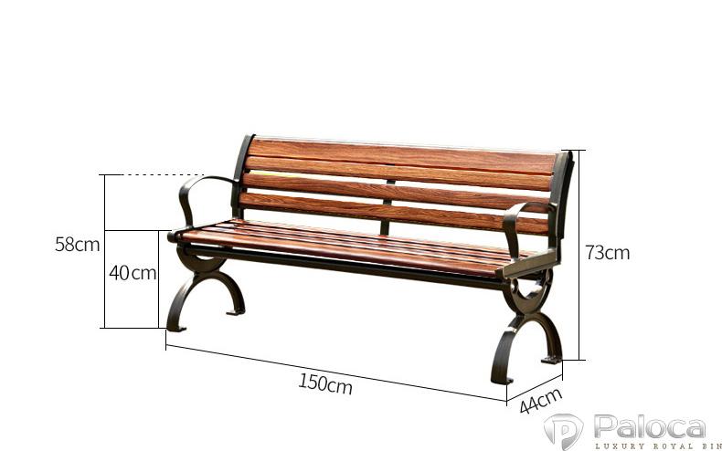 Kích thước ghế công viên