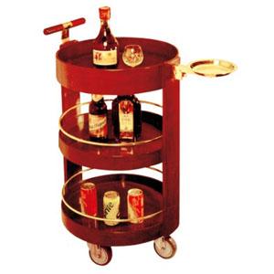 kệ để rượu hình tròn bằng gỗ 3 tầng