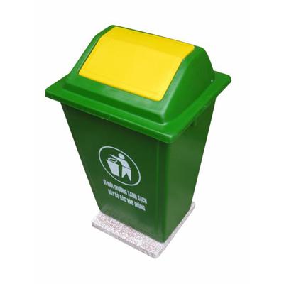 Thùng rác nhựa composite 60 lít đế đá