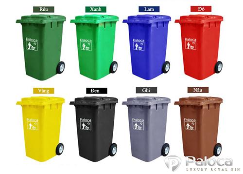 Hình ảnh thực tế thùng rác công nghiệp 240 lít