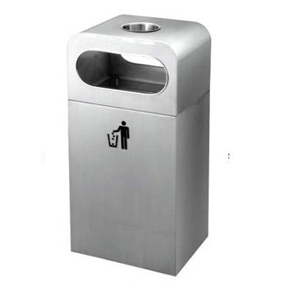 thùng rác inox có khay gạt tàn