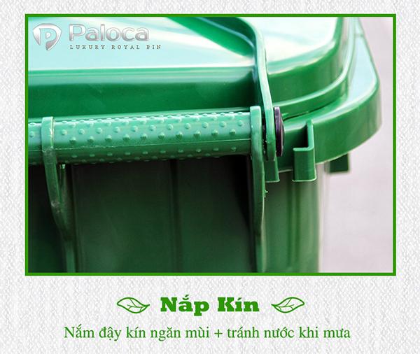 Thùng rác nhựa 120l Paloca