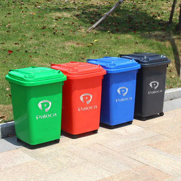 Hình ảnh thực tế thùng rác nhựa 60 lít