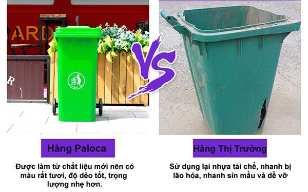 Độ bền vượt trội so với các dòng thùng rác nhựa thông thường