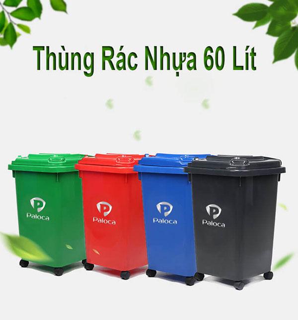 Thùng rác nhựa 60L Paloca