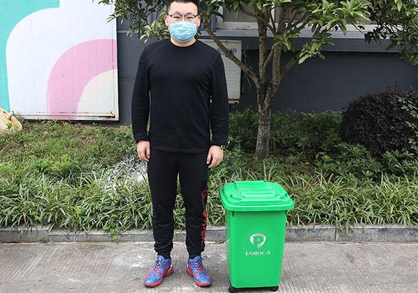 Thùng rác nhựa hdpe 60 lít giá rẻ