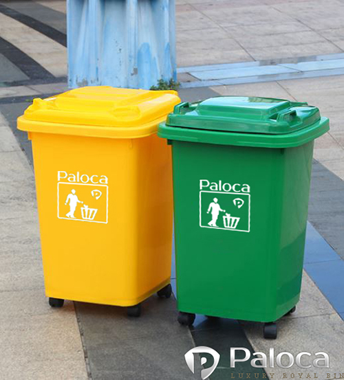 Hình ảnh thực tế thùng rác nhựa công nghiệp 60 l