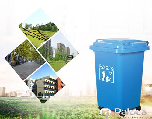 Thùng rác nhựa công nghiệp 60l có ứng dụng rộng rãi