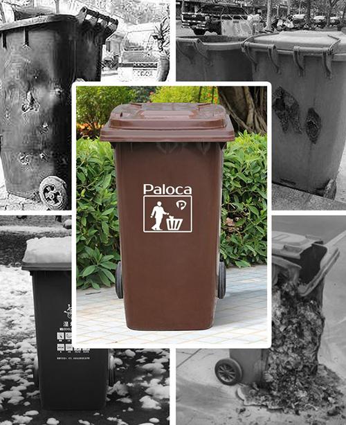 Thùng rác nhựa công cộng với sức chống chịu tốt